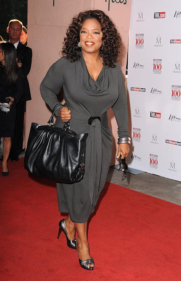 "Oprah Winfrey topped The Hollywood Reporter's Power 100 list, an annual ranking of the most influential women in the entertainment industry. The talk-show host told the Associated Press that she is not taking a post within President-elect Barack Obama's administration. Steve Granitz/<a href=""http://www.wireimage.com"" target=""new"">WireImage.com</a> - December 5, 2008"