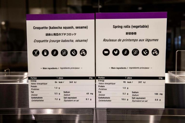 Athletes will be able to choose from a wide range of menus