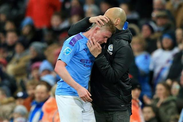 Manchester City could struggle to keep manager Pep Guardiola and stars such as Kevin De Bruyne (AFP Photo/Lindsey Parnaby)