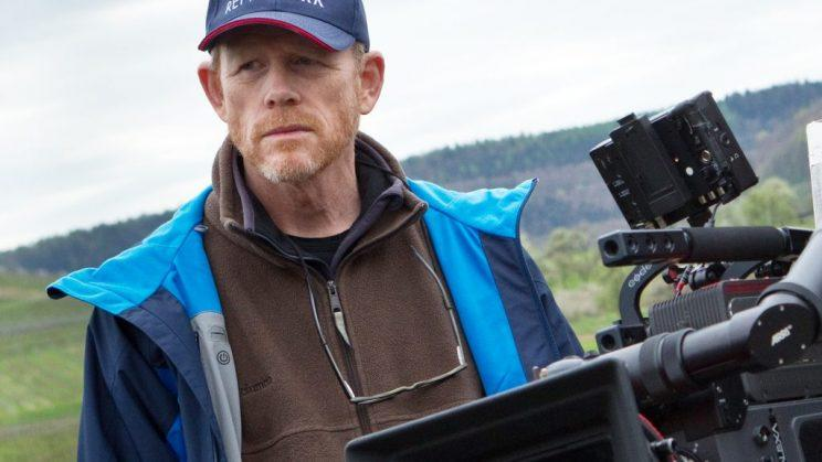 Ron Howard in his first day on the set of the Han Solo movie at Pinewood (Credit: Yahoo File)