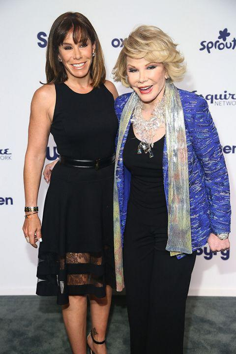 Joan and daughter Melissa. Credit: Getty Images