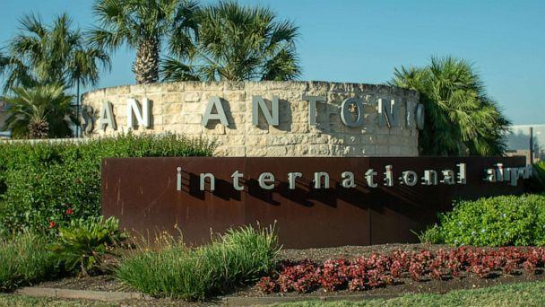 PHOTO: San Antonio International Airport entrance is marked by a sign, May 19, 2020. (STOCK IMAGE/Shutterstock)