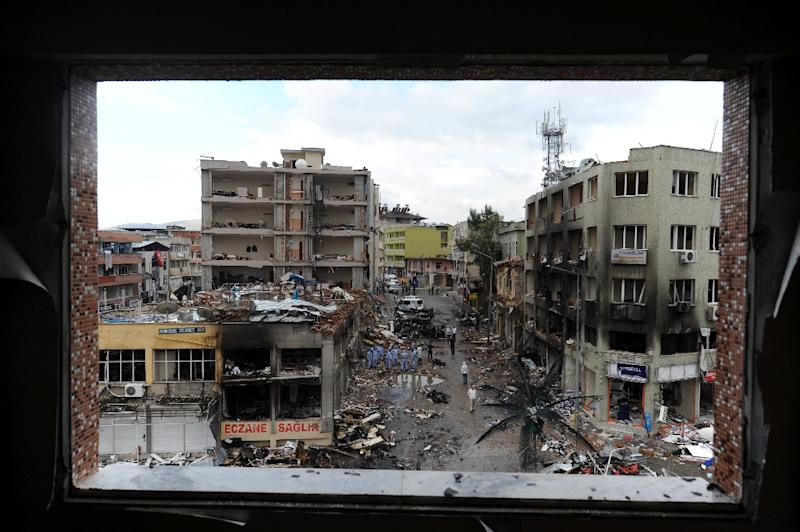 Ankara at the time blamed the bombing on the regime of Assad and allied groups (AFP Photo/Bulent KILIC)