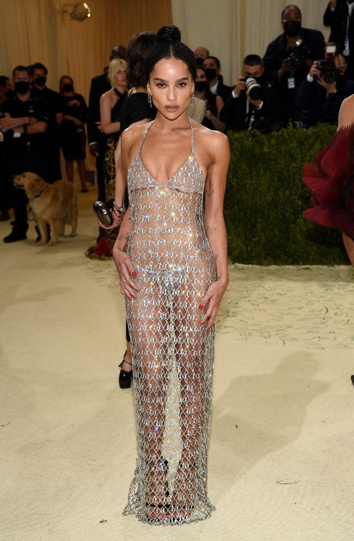 """Zoe Kravitz attends The Metropolitan Museum of Art's Costume Institute benefit gala celebrating the opening of the """"In America: A Lexicon of Fashion"""" exhibition on Monday, Sept. 13, 2021, in New York. - Credit: AP"""