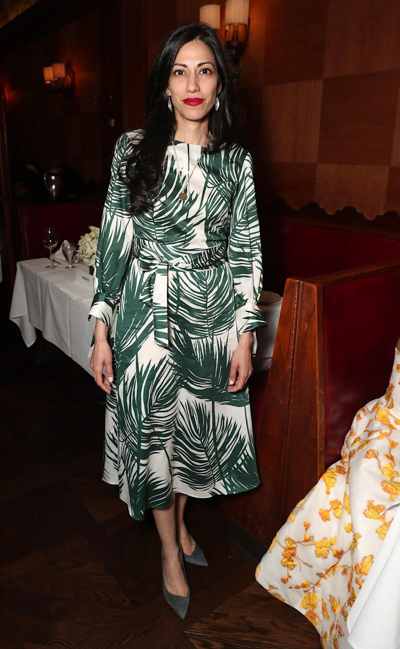 Huma Abedin Says Hello to Spring in the Perfect Print
