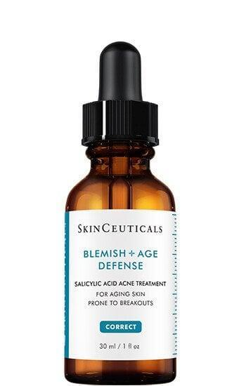 """<p>""""Harsh exfoliation can worsen the inflammation you are experiencing with an acne breakout. This is why you want to use a mild AHA such as salicylic acid, like in the <span>SkinCeuticals Blemish + Age Defense</span> ($92)."""" - dermatologist <a href=""""http://www.eringilbertmd.com/"""" class=""""link rapid-noclick-resp"""" rel=""""nofollow noopener"""" target=""""_blank"""" data-ylk=""""slk:Erin Gilbert"""">Erin Gilbert</a>, MD</p>"""