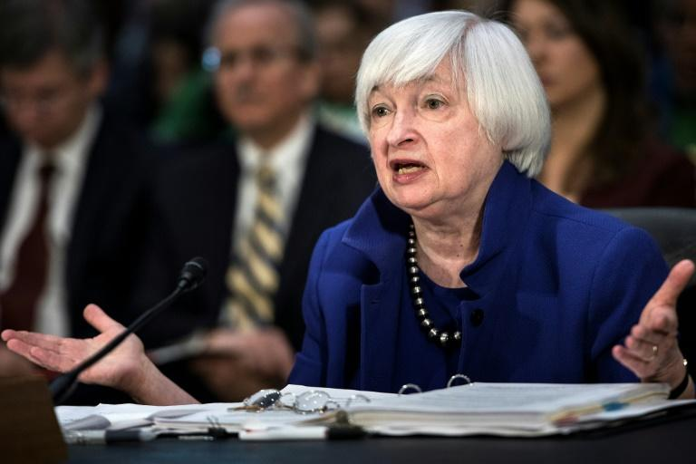 Federal Reserve Board Chairwoman Janet Yellen, seen in February 2017, defended the Fed's performance, saying it has not been too slow to raise the benchmark lending rates, given the tepid recovery and sluggish inflation