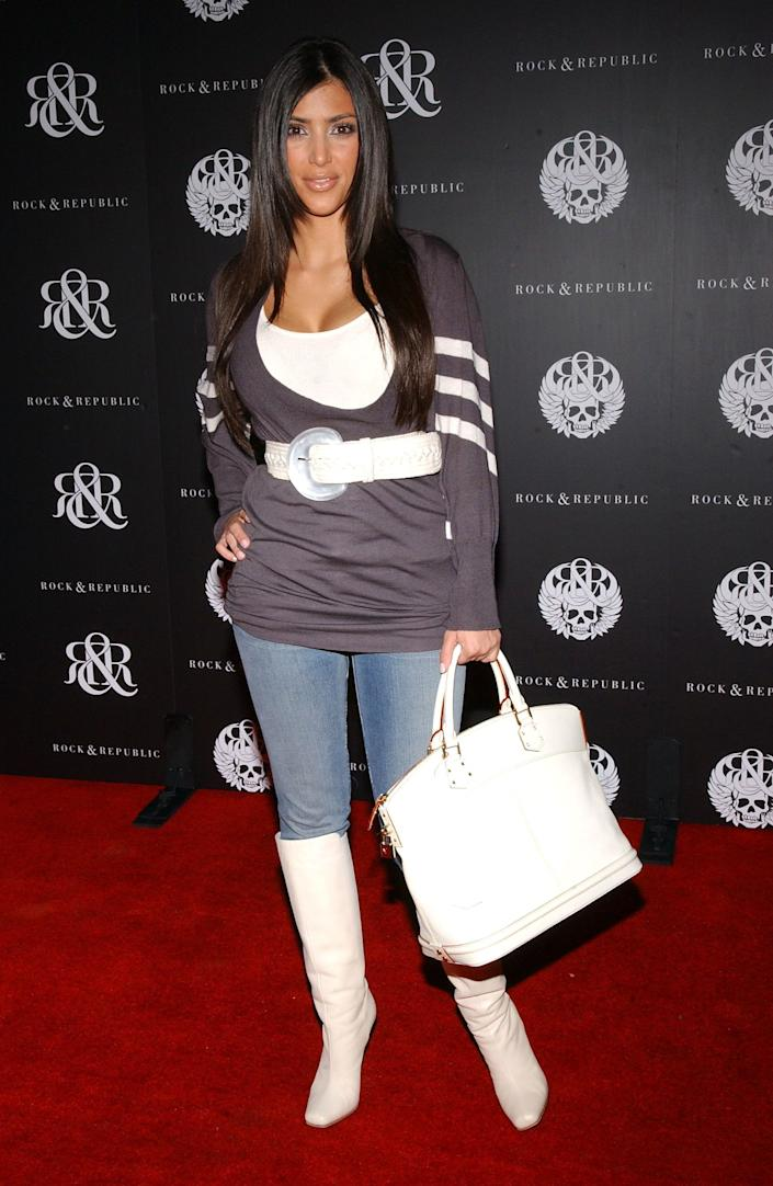 Kim Kardashian at the Rock & Republic after party in West Hollywood, Los Angeles on October 18, 2006. Abaca/EMPICS Entertainment