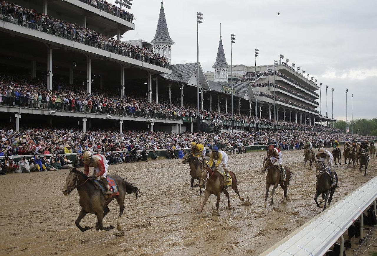 Joel Rosario rides Orb to victory during the 139th Kentucky Derby at Churchill Downs Saturday, May 4, 2013, in Louisville, Ky. (AP Photo/Matt Slocum)
