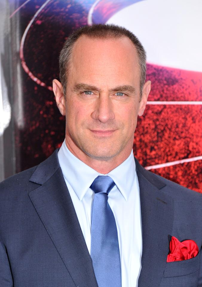 "NEW YORK, NY - JUNE 10: Actor Christopher Meloni attends the ""Man Of Steel"" world premiere at Alice Tully Hall at Lincoln Center on June 10, 2013 in New York City. (Photo by Stephen Lovekin/Getty Images)"