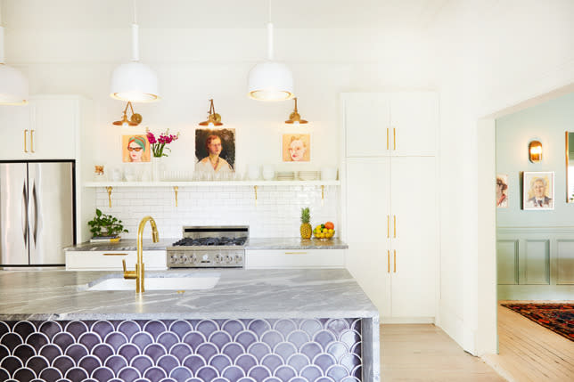 Create an open kitchen space with lots of light.