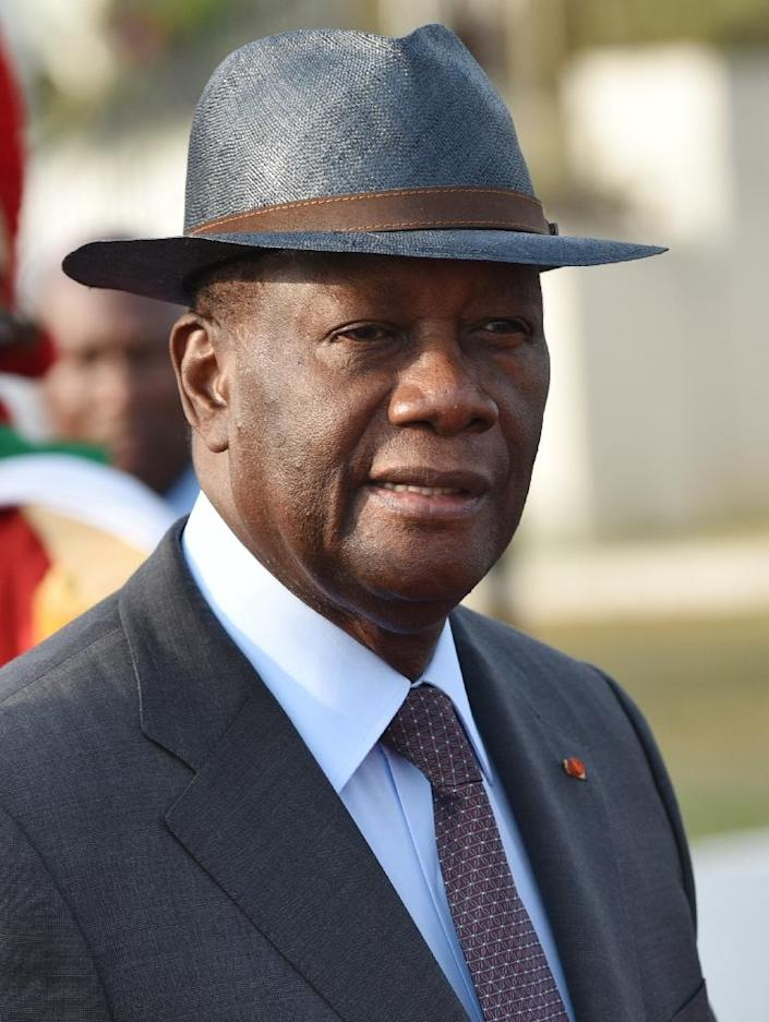 Former Ivory Coast president Laurent Gbagbo refused to stand down after losing elections in November 2010 to bitter longtime rival Alassane Ouattara, pictured here (AFP Photo/Sia Kambou)