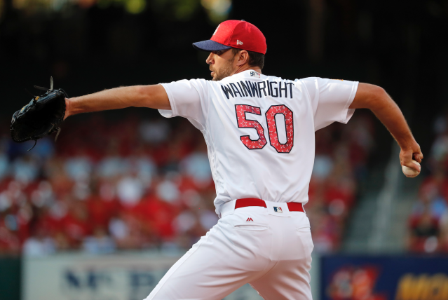 "Does <a class=""link rapid-noclick-resp"" href=""/mlb/players/7048/"" data-ylk=""slk:Adam Wainwright"">Adam Wainwright</a> have any star power left? (AP)"