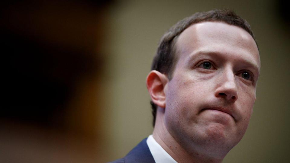 Zuckerberg on the second day of hearings on Capitol Hill.