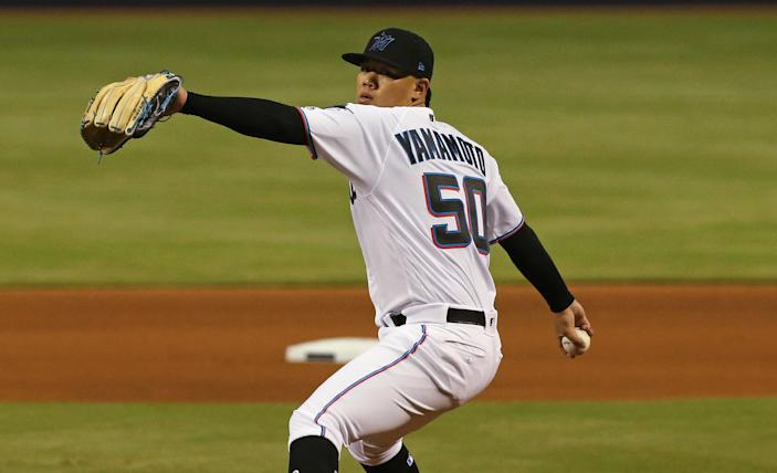 Jordan Yamamoto pitched seven scoreless innings in each of his first two major league starts. (Getty Images)