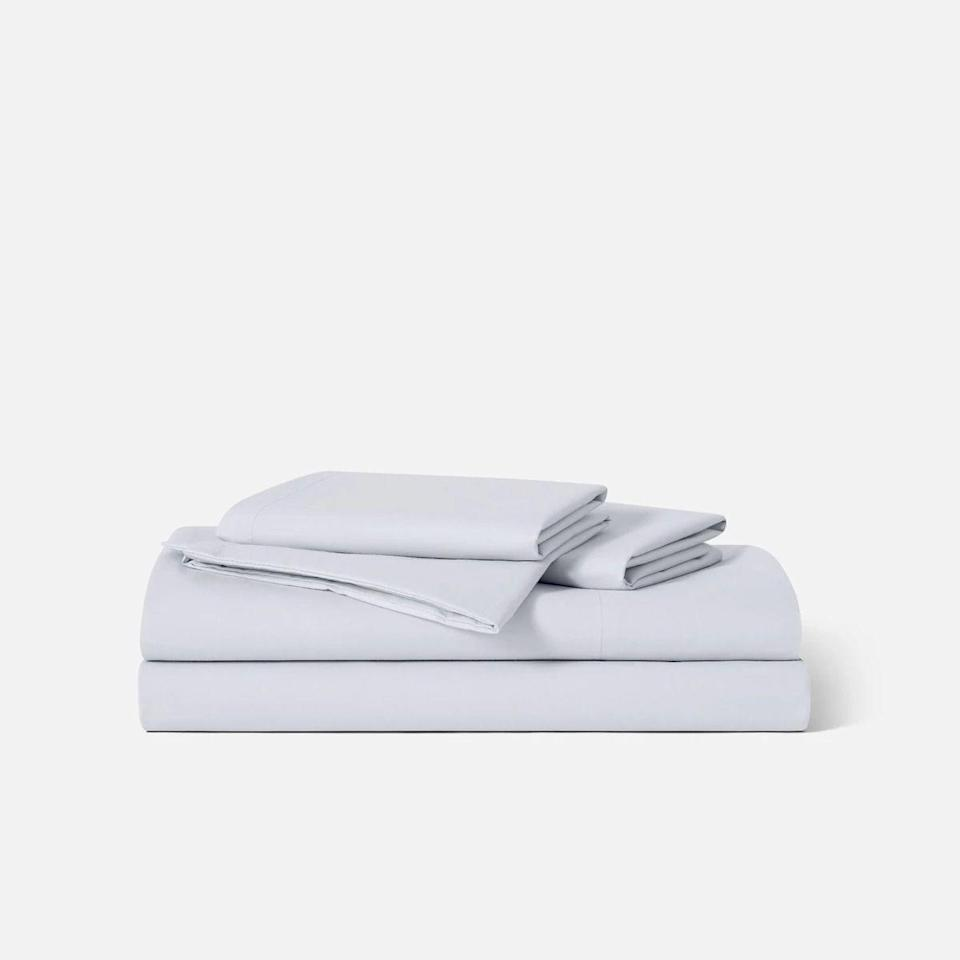 """<p><strong>Brooklinen</strong></p><p>brooklinen.com</p><p><strong>$129.00</strong></p><p><a href=""""https://go.redirectingat.com?id=74968X1596630&url=https%3A%2F%2Fwww.brooklinen.com%2Fproducts%2Fluxe-core-sheet-set&sref=https%3A%2F%2Fwww.bestproducts.com%2Fhome%2Fg32959421%2Fbedding-awards%2F"""" rel=""""nofollow noopener"""" target=""""_blank"""" data-ylk=""""slk:Shop Now"""" class=""""link rapid-noclick-resp"""">Shop Now</a></p><p>The Brooklinen Luxe Hardcore Sheet Set is <a href=""""https://www.bestproducts.com/home/a28278520/brooklinen-luxe-sateen-sheets/"""" rel=""""nofollow noopener"""" target=""""_blank"""" data-ylk=""""slk:a longtime favorite of ours"""" class=""""link rapid-noclick-resp"""">a longtime favorite of ours</a>, because the material is exceptionally well made for a fair price. These long-staple cotton sateen sheets have a 480 thread count, which strikes the right balance between crisp and casual. </p><p>They're way more flexible and breathable than hotel-quality starched linens — yet their tight weave is smooth, soft, and not see-though whatsoever. All sizes of this core set come with a flat sheet, fitted sheet, and two pillowcases.</p><p><em>This sheet comes in sizes twin/XL, full, queen, king, and California king, and in nine core colors.</em></p>"""