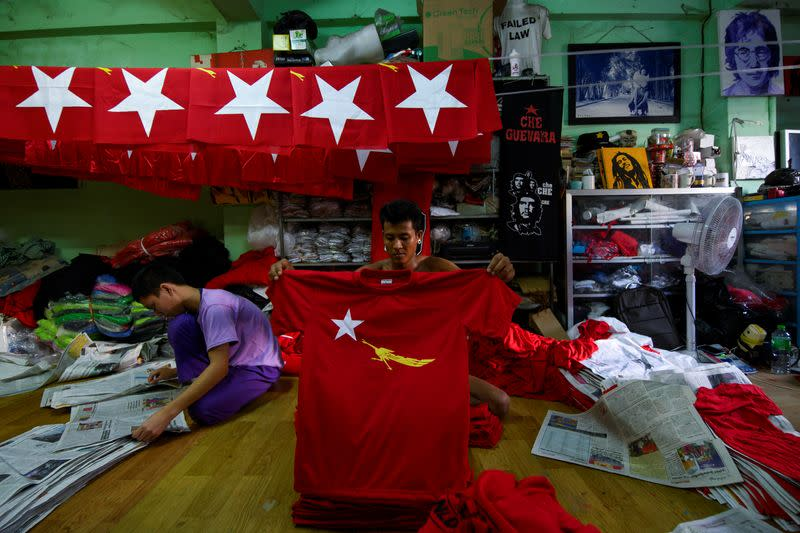 For small printing firm, Myanmar election boosts business for now