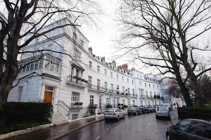 Pricey borough: One square metre of house space in Kensington and Chelsea is 25 times more expensive than the cheapest area of England and Wales: PA