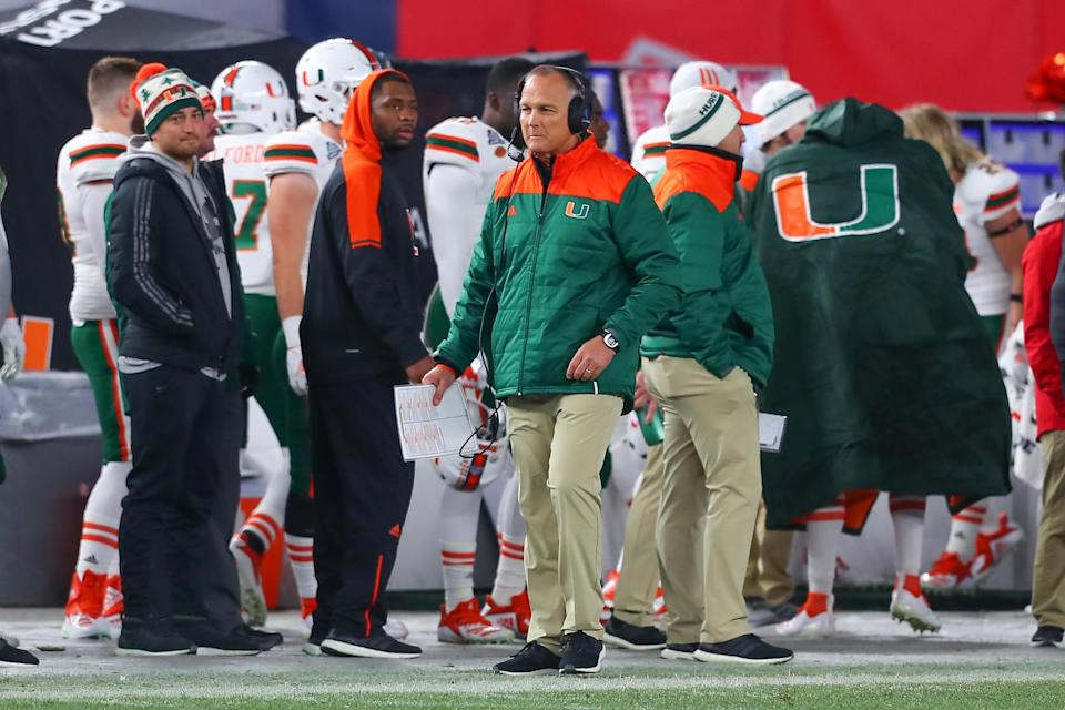 Mark Richt's team is just 7-9 after starting 10-0 in 2017. (Getty)