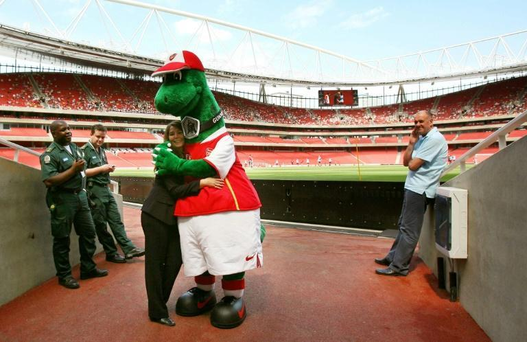 Arsenal's Gunnersaurus is back at the Emirates