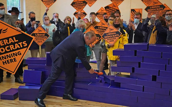 Smashing: Sir Ed Davey claims the by-election was historic - PA