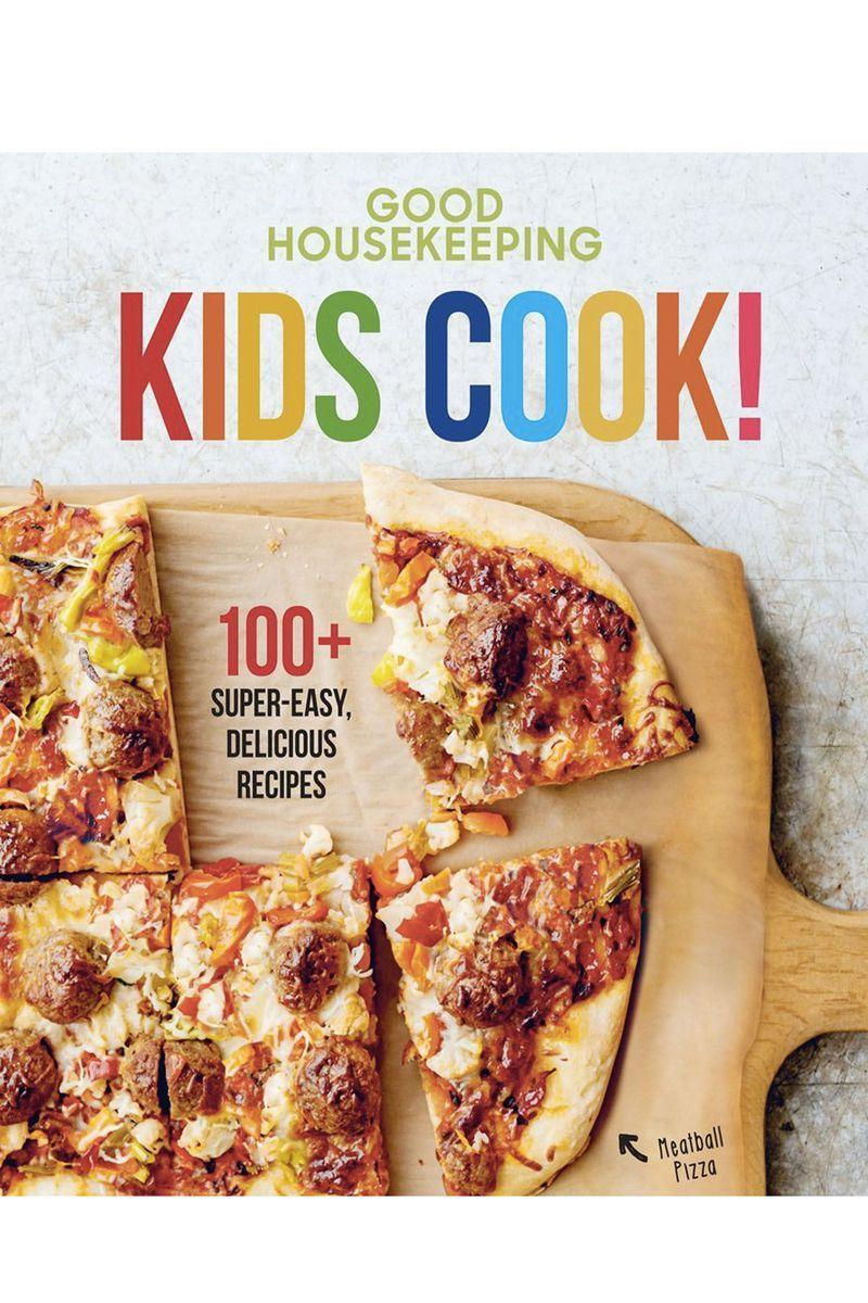"""<p><strong>Good Housekeeping</strong></p><p>amazon.com</p><p><strong>$10.99</strong></p><p><a href=""""https://www.amazon.com/dp/1618372408?tag=syn-yahoo-20&ascsubtag=%5Bartid%7C10055.g.203%5Bsrc%7Cyahoo-us"""" rel=""""nofollow noopener"""" target=""""_blank"""" data-ylk=""""slk:Shop Now"""" class=""""link rapid-noclick-resp"""">Shop Now</a></p><p>Your sous-chef today may just be the next Top Chef tomorrow<em>.</em> This cookbook, packed with more than 100 easy (and delicious!) recipes, will encourage them to practice their kitchen skills — and feed their loved ones. <em>Ages 8+</em></p>"""