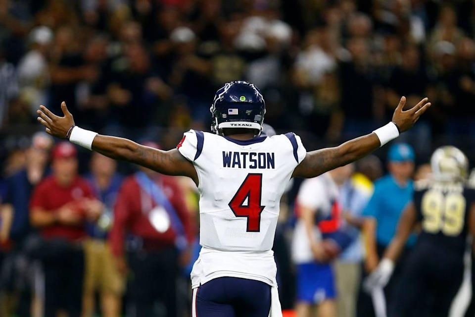 The Panthers tried to pursue Houston quarterback Deshaun Watson (4) in January and February, only to be repeatedly rebuffed by the Texans.