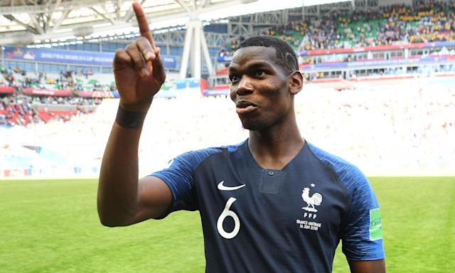 Paul Pogba was involved in both of France's goals as they beat Australia 2-1 in their World Cup opener.