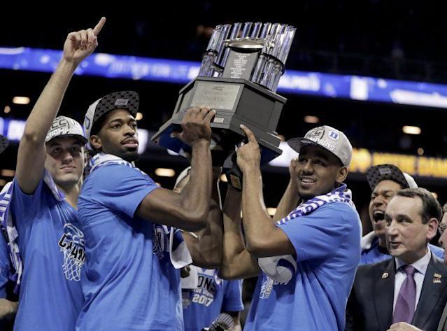 Duke won four games in four nights to take home the ACC tournament trophy. (AP Images)
