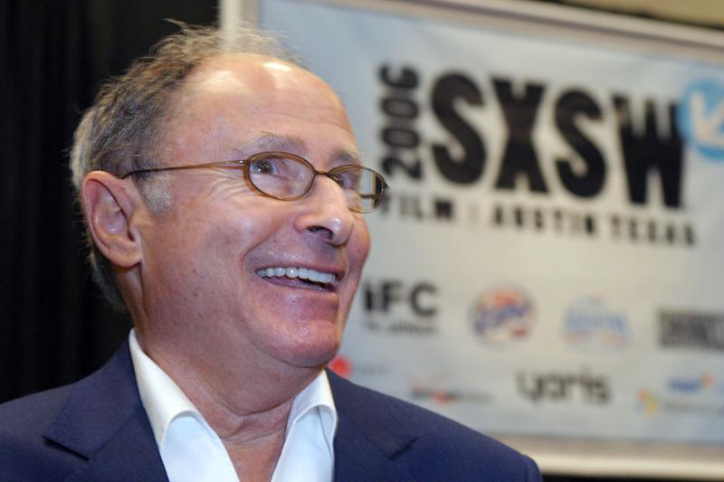 Variety editor Peter Bart gives an interview before an audience at the South by Southwest Film Festival in Austin, Texas, Saturday, March 11, 2006. (AP Photo/Jack Plunkett)