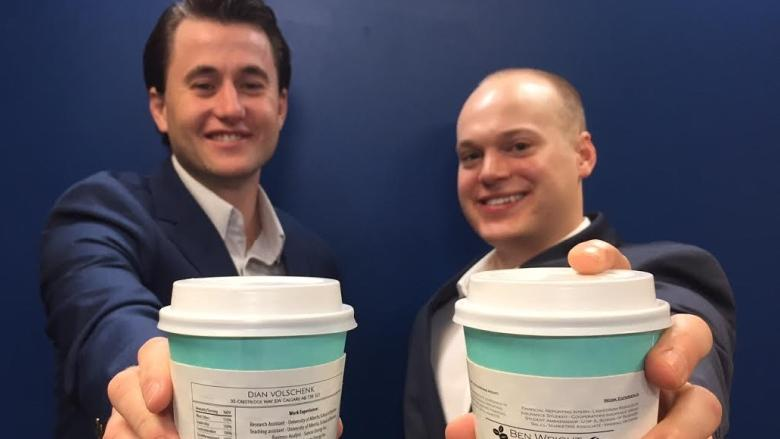 Java and job seeking: Enterprising Alberta grads hand out resumes on coffee cups