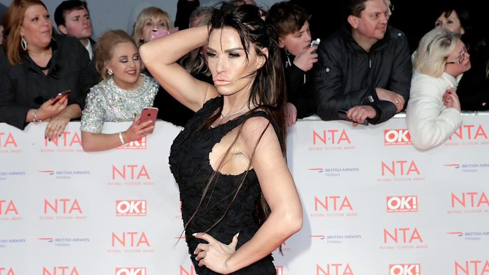 Katie Price attends the National Television Awards 2018 at the O2 Arena