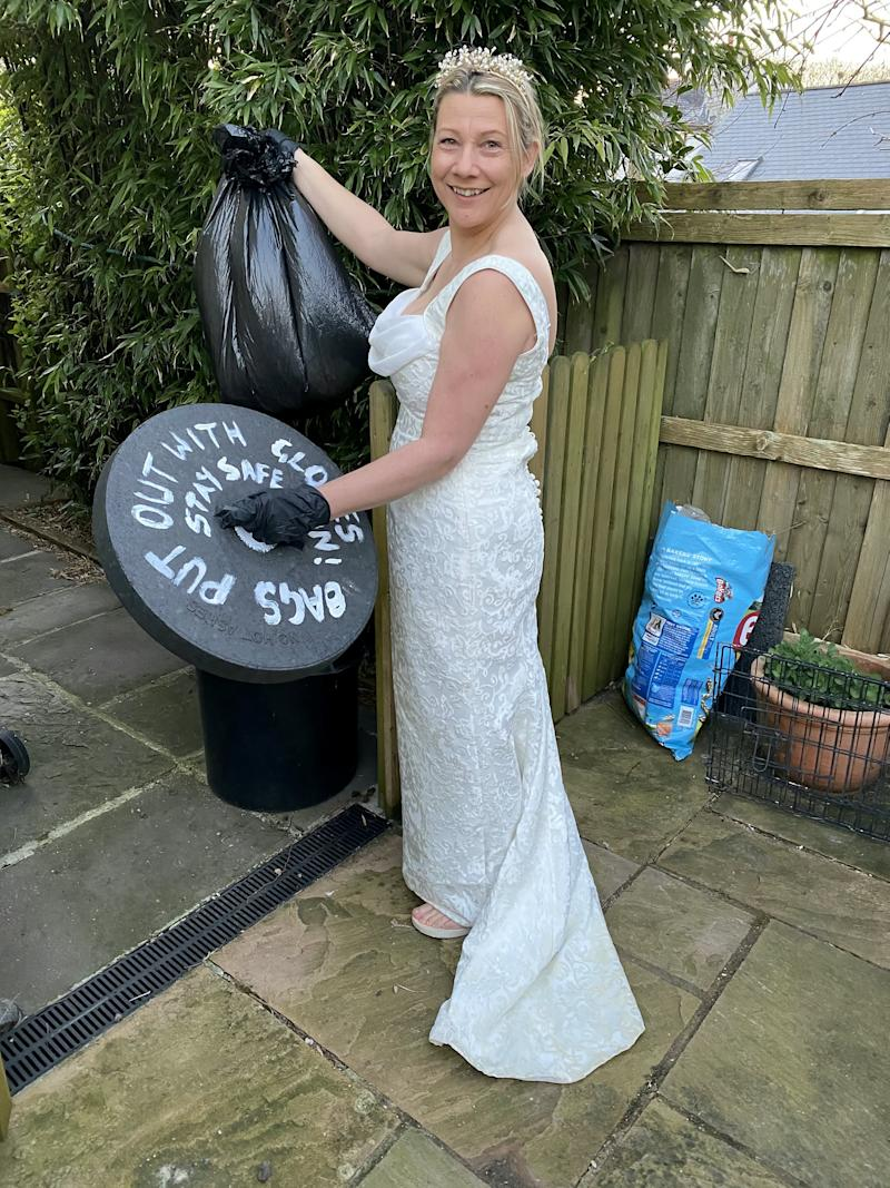 Who says a wedding dress can only be worn once? (SWNS)