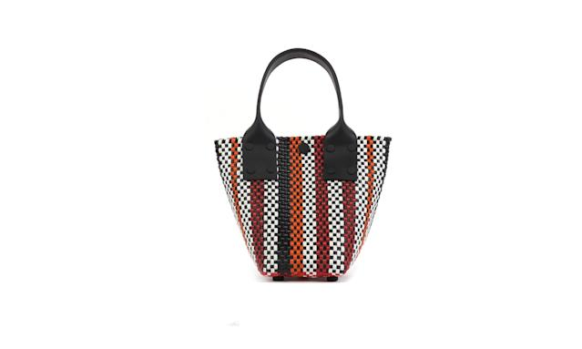 "<p>Le Sac Mini in Red & Orange Stripe, $200, <a href=""http://trussnyc.com/shop_items/le-sac-mini-red/"" rel=""nofollow noopener"" target=""_blank"" data-ylk=""slk:trussnyc.com"" class=""link rapid-noclick-resp""> trussnyc.com</a> </p>"