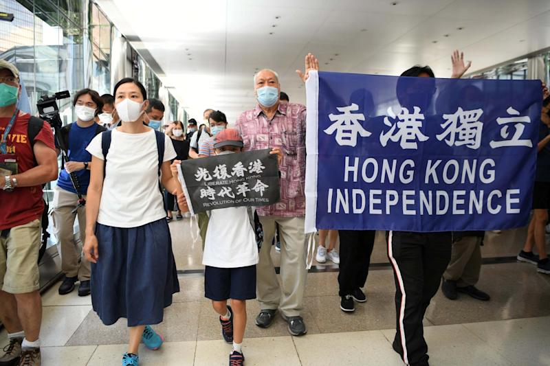 A protest in Hong Kong (REUTERS)