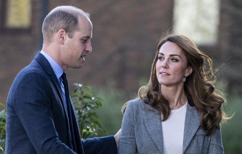 Catherine, Duchess of Cambridge and Prince William, Duke of Cambridge attend Shout's Crisis Volunteer celebration event at Troubadour White City Theatre on November 12, 2019 in London, England.