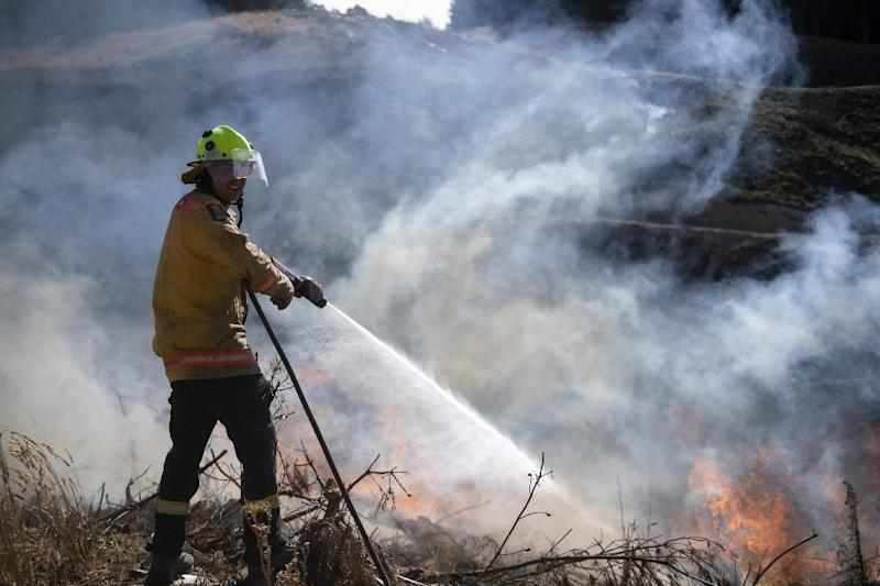 The main fire is believed to have been accidentally started by farm equipment (AFP Photo/Chad SHARMAN)