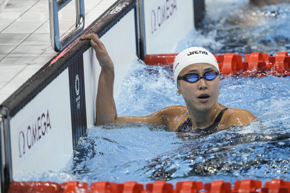 Singapore swimmer Quah Ting Wen in action in the women's 50m freestyle heats. (PHOTO: SNOC/Kong Chong Yew)