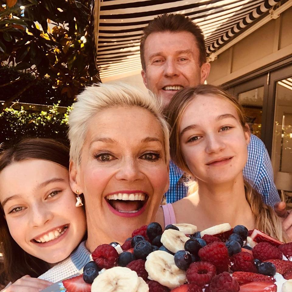 Jessica Rowe, Peter Overton and their kids