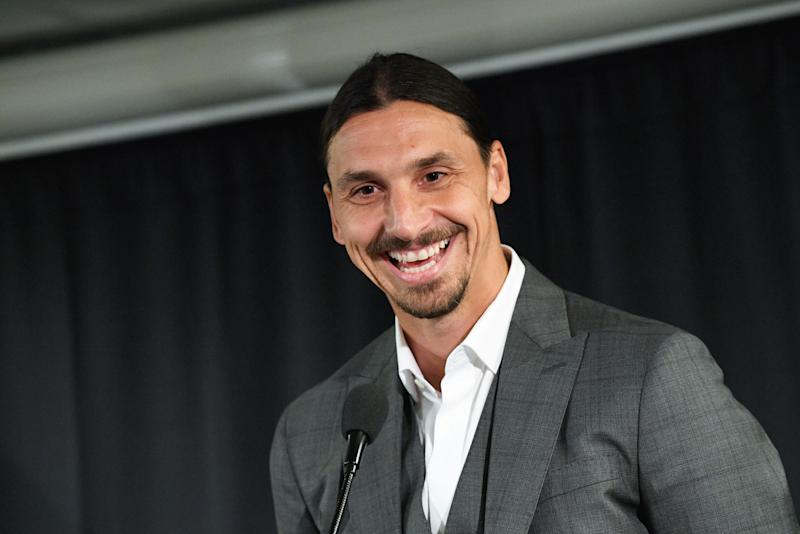 Zlatan Ibrahimovic is back. Let's have some fun. (Photo by JOHAN NILSSON/TT News Agency/AFP via Getty Images)