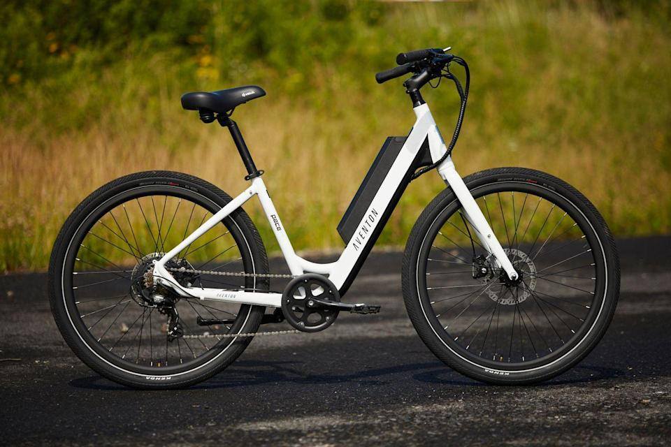 """<p>For some older e-bike riders, or younger riders with mobility issues, mounts and dismounts are where many injuries happen. This is partially because of the bike's heaviness—the extra 20-plus pounds could cause it to tip over and injure the rider. Make sure <a href=""""https://www.bicycling.com/bikes-gear/a20047780/find-right-bike-size/"""" rel=""""nofollow noopener"""" target=""""_blank"""" data-ylk=""""slk:the frame you buy"""" class=""""link rapid-noclick-resp"""">the frame you buy</a> is one that's comfortable to get on and off easily. For some, that may mean seeking out a step-through frame (which aren't just for women!) or a standard frame with a more sloping top tube.</p>"""