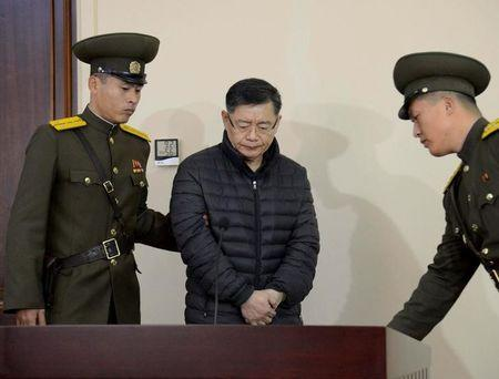 FILE PHOTO - Canadian pastor Hyeon Soo Lim during his trial at a North Korean court in Pyongyang