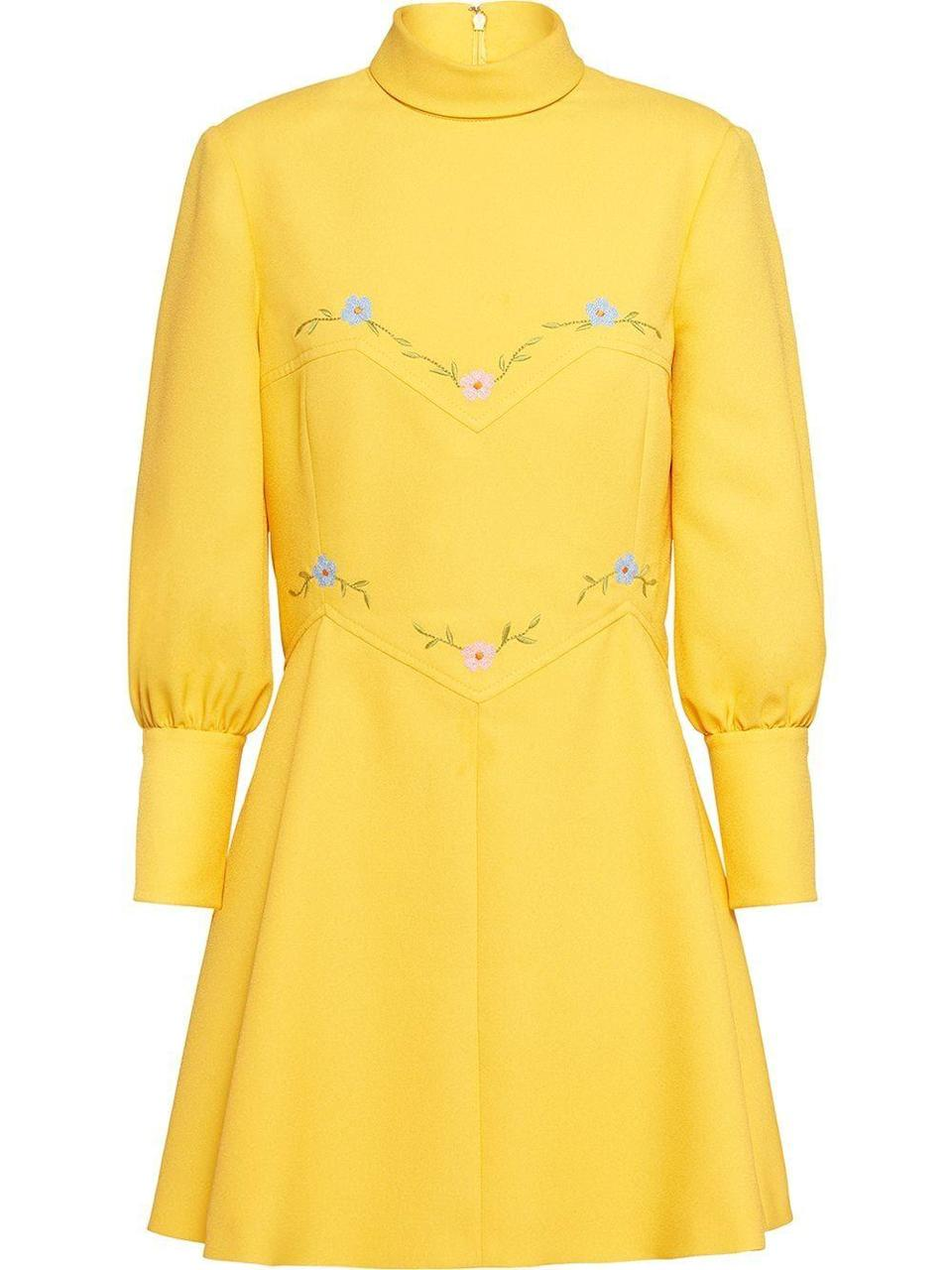 "<p>Dress, £1,340, Miu Miu </p><p><a class=""link rapid-noclick-resp"" href=""https://www.miumiu.com/gb/en/products.technical_sable_dress.MF3524_1V7B_F0010.html"" rel=""nofollow noopener"" target=""_blank"" data-ylk=""slk:SHOP NOW"">SHOP NOW</a></p>"