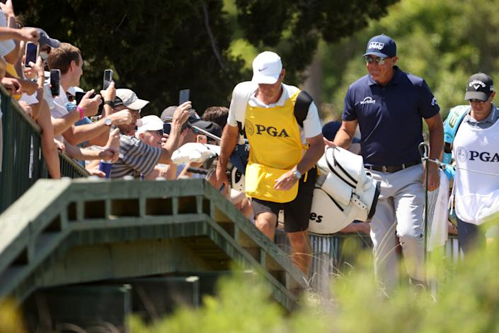 Phil Mickelson in the final round of the 2021 PGA Championship