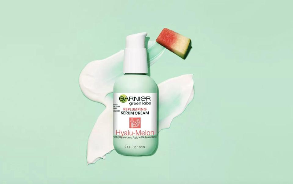 <p>Top off your morning routine with the <span>Garnier Green Labs Hyalu-Melon Replumping Serum Cream - SPF 30</span> ($17). It's a hydrating sunscreen that will protect your skin from the sun and dryness.</p>