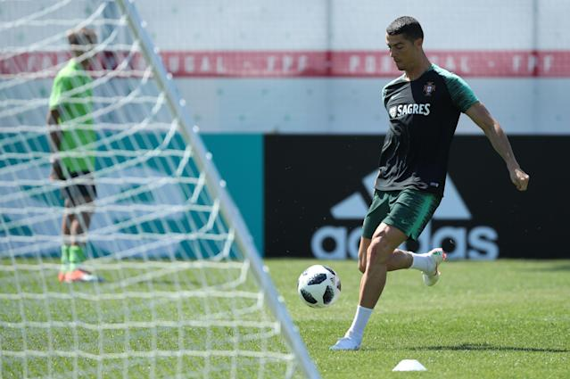 Soccer Football - World Cup - Portugal Training - Saturn Training Base, Kratovo, Moscow Region, Russia - June 17, 2018 Portugal's Cristiano Ronaldo during training. REUTERS/Albert Gea