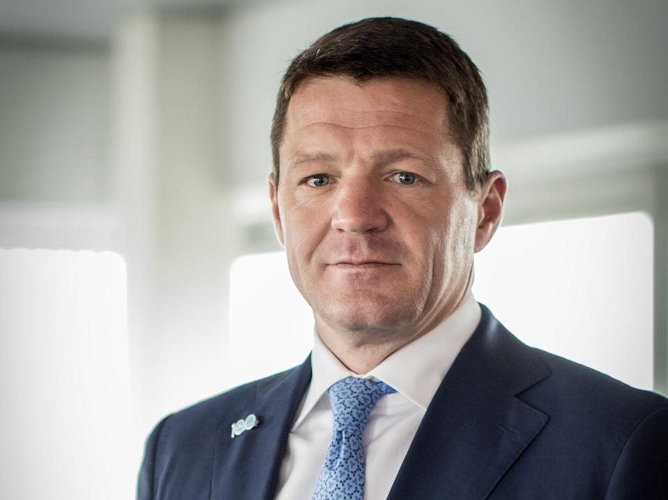 Tough times: Pieter Elbers, chief executive of KLM Royal Dutch Airlines has seen passenger numbers collapsed by 75% (Natascha Libbert)