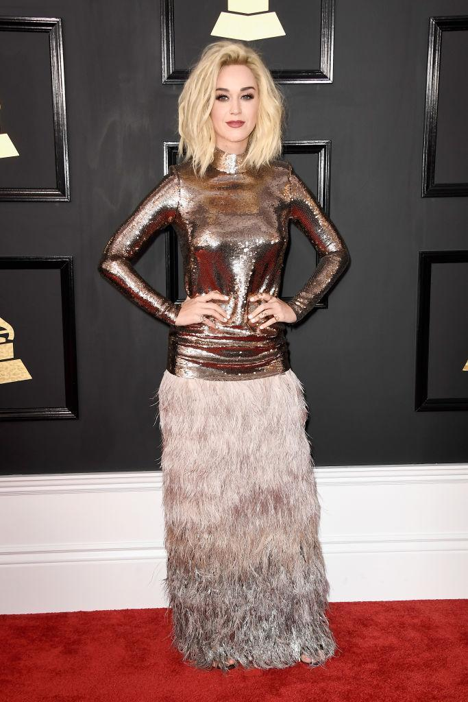 Katy Perry in Tom Ford. (Photo: Getty Images)
