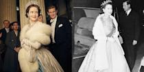 <p><em>The Crown </em>delivers on some serious royal glamour moments. In season 1, Claire Foy wore a sparkling gown and fur stole that is reminiscent of an outfit worn by Queen Elizabeth to a premiere in 1954.</p>