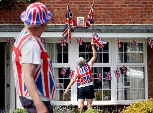British celebrations included lots of flags and a two-minute silence to mark the 75th anniversary of Allied victory in Europe